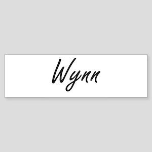 Wynn surname artistic design Bumper Sticker