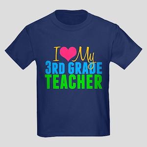 3rd Grade Teacher Kids Dark T-Shirt