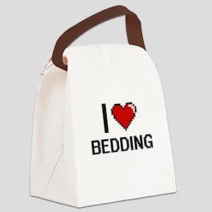 I Love Bedding Digitial Design Canvas Lunch Bag