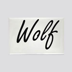 Wolf surname artistic design Magnets