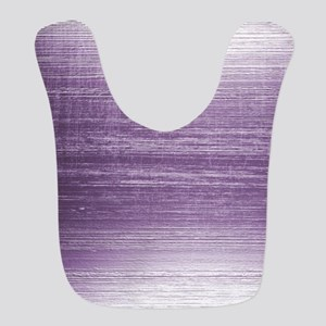 Purple Distressed Faux Metal Effect Bib