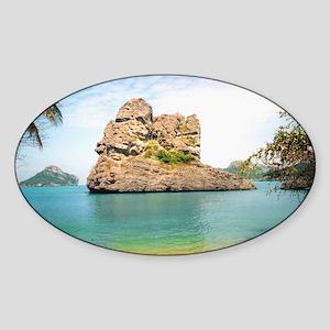 The Island Oval Sticker