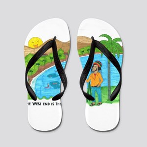 The West End is the Best End Flip Flops