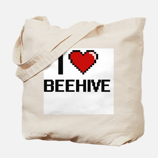 I Love Beehive Digitial Design Tote Bag