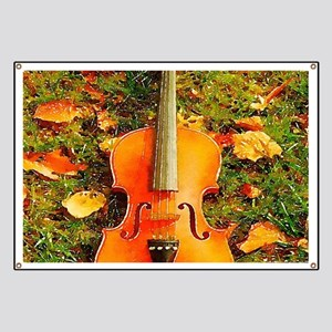 romantic fall leaves violin Banner