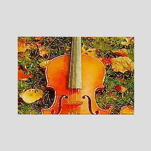 romantic fall leaves violin Magnets