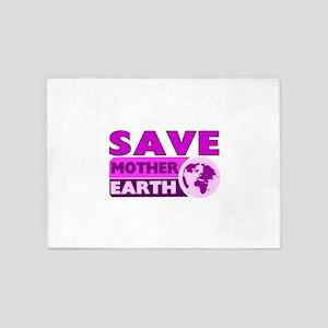 Save the earth 5'x7'Area Rug