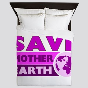 Save the earth Queen Duvet