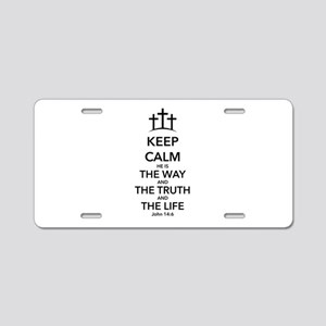 Way Truth Life Aluminum License Plate