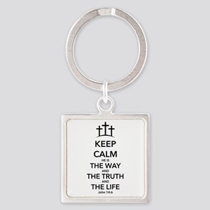 Way Truth Life Square Keychain