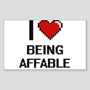 I Love Being Affable Digitial Design Sticker