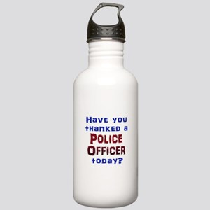 Thank Police Water Bottle