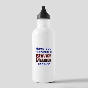 Thank Service Water Bottle