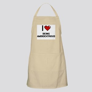 I Love Being Ambidextrous Digitial Design Apron