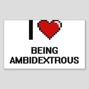 I Love Being Ambidextrous Digitial Design Sticker