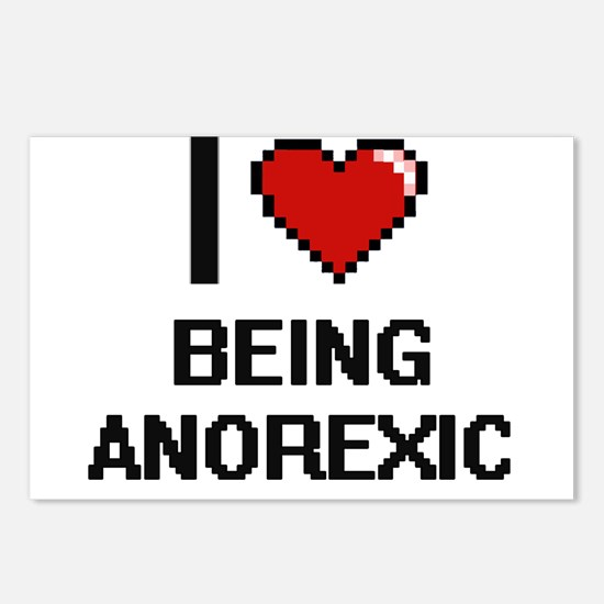 I Love Being Anorexic Dig Postcards (Package of 8)