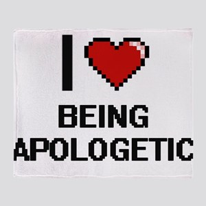 I Love Being Apologetic Digitial Des Throw Blanket