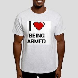 I Love Being Armed Digitial Des T-Shirt