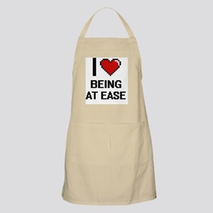 I love Being At Ease Digitial Design Apron