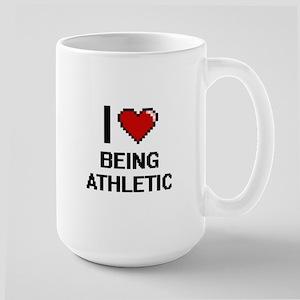 I Love Being Athletic Digitial Design Mugs