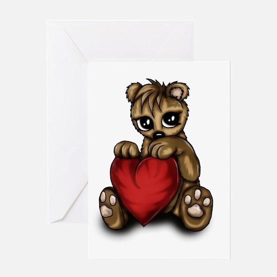 Teddy Love Greeting Cards