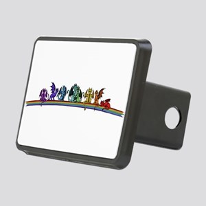 Rainbow Dragons Rectangular Hitch Cover