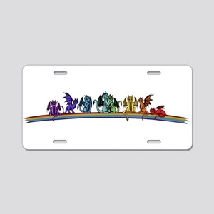 Rainbow Dragons Aluminum License Plate