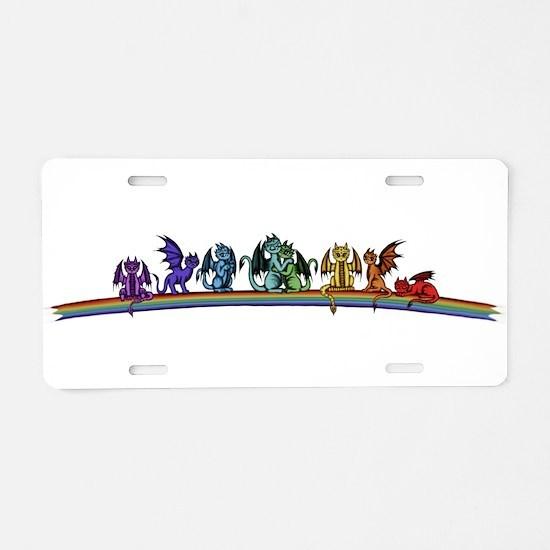 Rainbow Dragons Aluminum License Plate