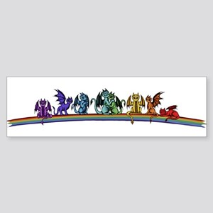 Rainbow Dragons Bumper Sticker