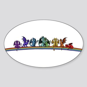 Rainbow Dragons Sticker