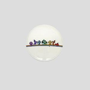 Rainbow Dragons Mini Button