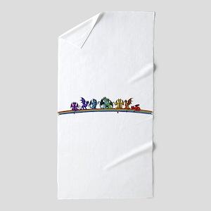 Rainbow Dragons Beach Towel