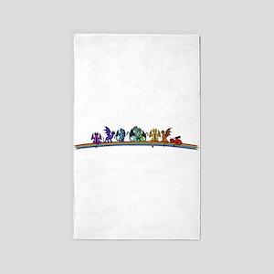 Rainbow Dragons Area Rug