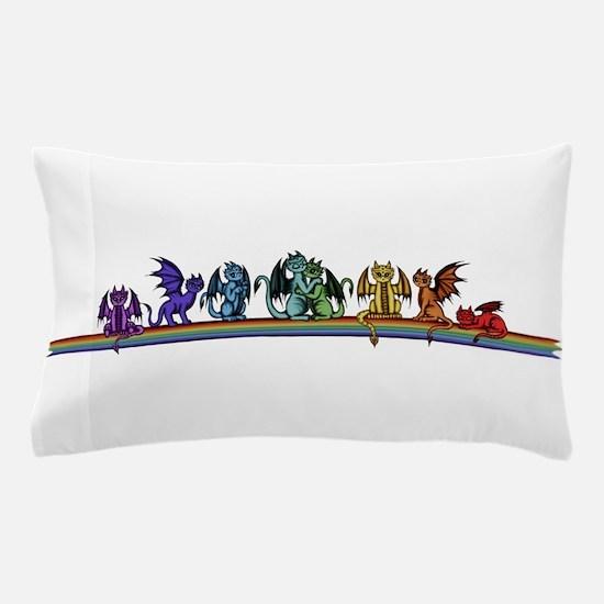 Rainbow Dragons Pillow Case