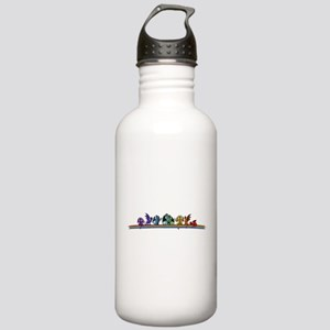 Rainbow Dragons Sports Water Bottle