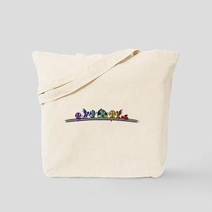 Rainbow Dragons Tote Bag