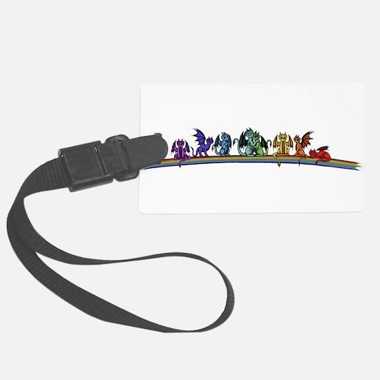 Rainbow Dragons Luggage Tag
