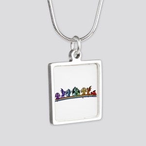 Rainbow Dragons Necklaces