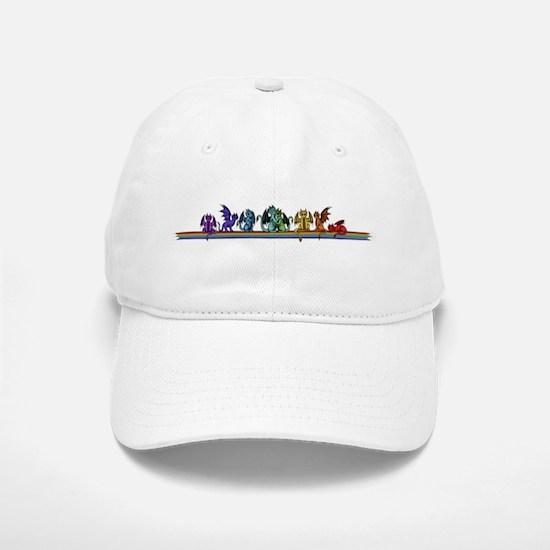 Rainbow Dragons Baseball Baseball Cap