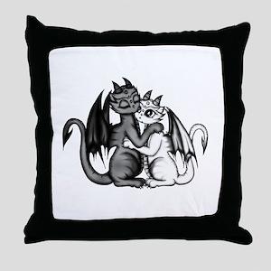 Dragon Lovepair Throw Pillow