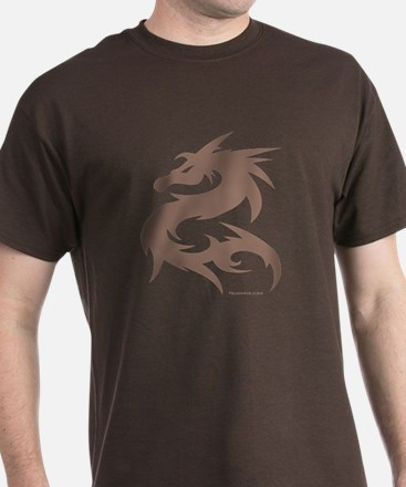 [JUNKIE STYLE] DRAGON - Brown T-Shirt