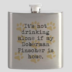 If My Doberman Pinscher Is Home Flask
