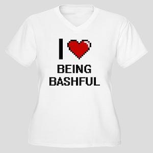 I Love Being Bashful Digitial De Plus Size T-Shirt