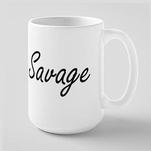Savage surname artistic design Mugs