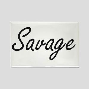 Savage surname artistic design Magnets