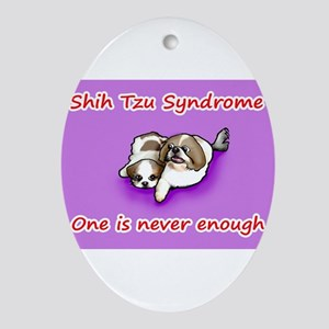 Shih Tzu Syndrome Ornament (Oval)