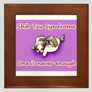 Shih Tzu Syndrome Framed Tile