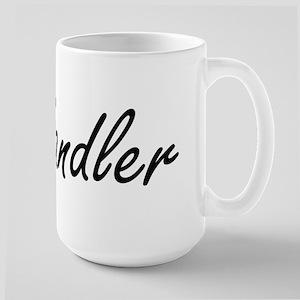 Sandler surname artistic design Mugs