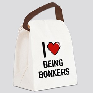 I Love Being Bonkers Digitial Des Canvas Lunch Bag