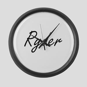 Ryder surname artistic design Large Wall Clock